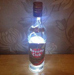 Awesome Upcycled Havana Club Bottle Lamp