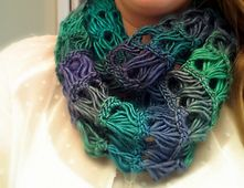 Ravelry: Broomstick Lace Infinity Scarf pattern by B.hooked Crochet