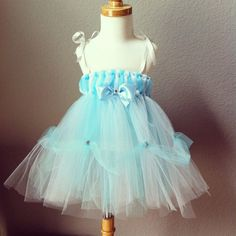 1-2 Year Cinderella Tutu Dress for Costume or Birthday Celebrations. $39.99, via Etsy.