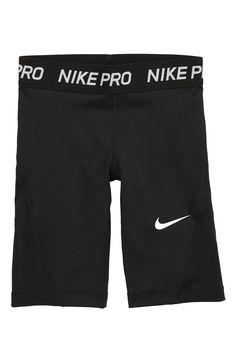 Girl's Nike Pro Dri-Fit Compression Shorts, Size S - Black Nike Pro Shorts, Compression Shorts, Nike Pros, Gymnastics, Snug, Nordstrom, Athletic, Fitness, Black