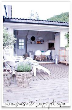 Utestue på sikt? Draumesidene.com: Kveld på terrassen og i hagestova
