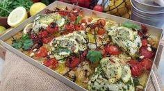 Nadia Sawalha's lemon and garlic roasted fish