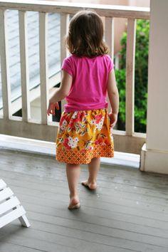 Millie School house Skirt- free sewing pattern