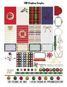 Free Printable Christmas Sampler for the Happy Planner