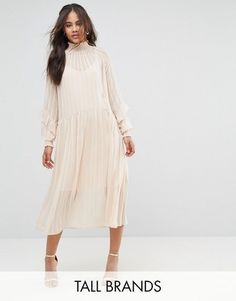 Shop Now - > https://api.shopstyle.com/action/apiVisitRetailer?id=654932874&pid=uid6996-25233114-59 Y.A.S Tall Ruffle Detail Smock Dress ...