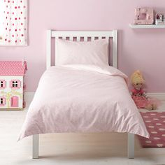 Buy little home at John Lewis Make a Wish Hearts & Stars Single Duvet Cover and Pillowcase Set, Pink Online at johnlewis.com Single Duvet Cover, Duvet Cover Sets, Vintage Country, Little Houses, Make A Wish, Quilt Cover, John Lewis, Kids Bedroom, Pillow Cases