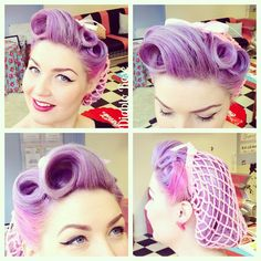 Purple pinup hair