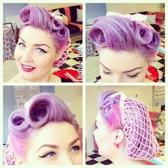 Purple pinup hair