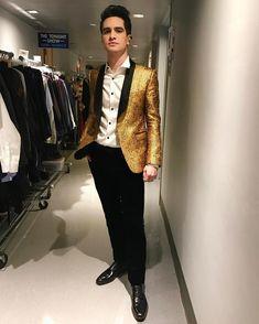 Brendon Urie Gold Brocade suit jacket @afrancodesigner #Men's wear #Men's Fashion