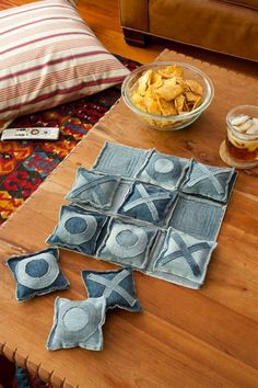 Tic Tac Toe Game From Old Jeans