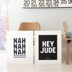 Hey Jude Lyric Set :: 45wall design
