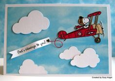 WT474 Snoopy Flying High - Birthday Blessings!