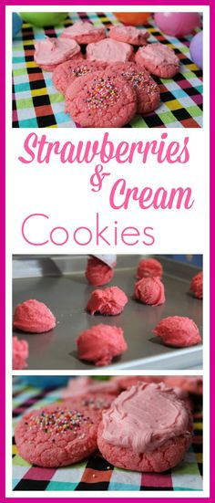 Strawberries and Cream Cookies -