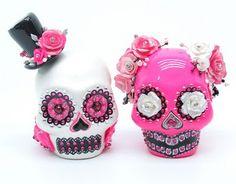 madamepOmmcustomorder: bunnygirl1313 - Skull Wedding Cake Topper