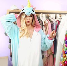 Look how Alisha Marie rocks the unicorn weezie! OMG