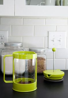 Love this lime green French press.