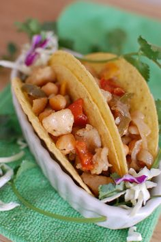 Swai tacos - I'm not a fan of Swai at all but this recipe is really good! It's super, super yummy! Totally recommend it!