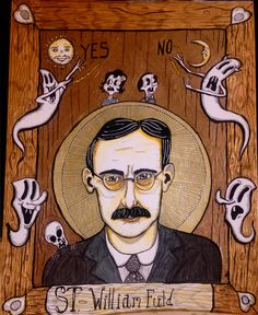 Mr. William Fuld, Patron of oracles and slumber parties. Artwork by Clinton Meister 2016 #Ouija #cmeisterartz