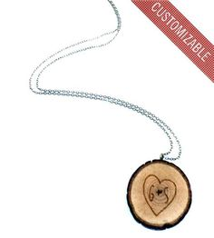 Custom Branch Initial Necklace   We're of the opinion that hearts are meant to be worn — if not...   Necklaces