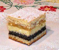 Zákusok Štedrák (fotorecept) Czech Recipes, Eclairs, Culinary Arts, Christmas Baking, Sweet Recipes, Cupcake Cakes, Sweet Tooth, Bakery, Sweet Treats