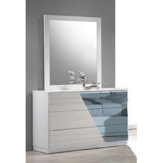BestMasterFurniture Manchester 3 Drawer Dresser with Mirror