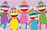 Colorful Sock Monkey classroom decor from Mardel