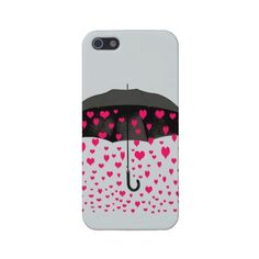 Raining Hearts iPhone 5 covers ($40) ❤ liked on Polyvore