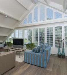 At Shutterly Fabulous we provide quality made to measure, bespoke window shutters to suit all window shapes and sizes. Wooden Window Shutters, Wooden Windows, Neutral Paint, Attic Rooms, Window Dressings, Cabin Ideas, Cornwall, Window Treatments, Natural Wood