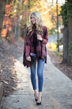 Red Buffalo Check Cardigan - Blonde Expeditions