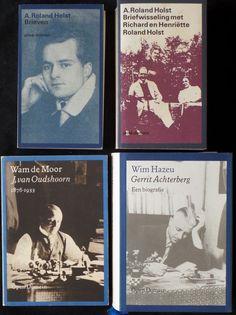 Prive-domein/Open domein - Lot van 4 uitgaven - 1981/1988  1. A. Roland Holst - Brieven aan Marius Brinkgreve. Privé domein nr. 58 238 bladzijde 1981. ISBN 9029535922. A. Roland Holst - Briefwisseling met Richard en Henriette Roland Host. Privé domein nr. 153 507 bladzijde 1990. ISBN 90295356793. J. van Oudshoorn 1876 - 1933. Biografie door Wam de Moor. Open domein nr. 1 480 bladzijde 1982. ISBN 90295318864. Gerrit Achterberg - Een biografie door Wim Hazeu. Open domein nr. 18 717 bladzijde…