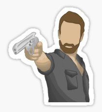 the walking dead - rick grimes Pegatina Laptop Stickers, Cute Stickers, Wall Stickers, The Walking Dead, Walking Dead Drawings, Cool Art Drawings, Carl Grimes, Aesthetic Stickers, Print And Cut
