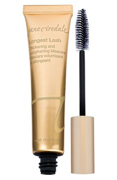 jane iredale 'Longest Lash' Thickening & Lengthening Mascara | Nordstrom 33.00  For those who want it all: well-defined, longer looking lashes and buildable volume! The Jane Iredale regular mascara in Black Onyx is cheaper, about $18 and also great.