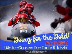Winter Games ~ No print! NO prep! INTERACTIVE!