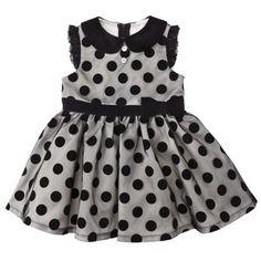 Harajuku Mini for Target® Toddler Girls' Polka Dot Dress - Black/Black