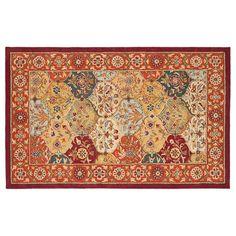 Safavieh Heritage Reine Framed Floral Wool Rug, Red