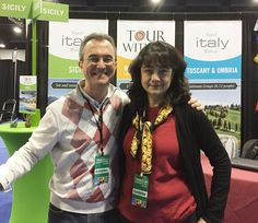 Perla and Stefano at the Denver Travel and Adventure show last weekend. Many people got interested in our tours. The Northern Italy tour scheduled for October 5 - 19 is sold out!  There are still places on these tours: Northern Italy: September 14 – 28 Sicily: October 23 – November 06 Tuscany & Umbria: August 26 – September 9  Ready to Tour With Us? http://tour-withus.com/booking/booking-form.html