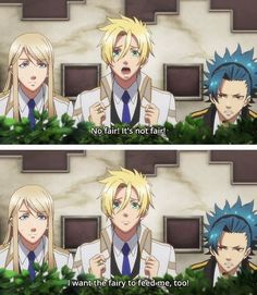 As Yui's favorite guys watch her being all cutesy with Tsukito. They're so cute when they're jealous, teehee.
