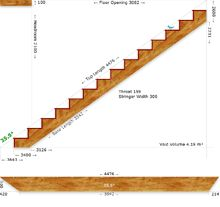 Staircase Calculator- this website has calculators for all kinds of staircases including double helix spiral! Also has TONS of other conctruction calculators, basically the holy grail website for help with designing building plans!