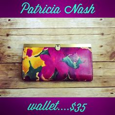 This beautiful Patricia Nash wallet (dust bag included) is only $35 at Clothes Mentor Palm Harbor!! The #rich #vibrant #genuine #leather will pair perfectly with any handbag in your wardrobe. #fabulousfashion #resale #clothesmentorpalmharbor #patricianash #wallet #wallets #designerwallet #designerforless