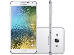 "Smartphone Samsung Galaxy E5 Duos Dual Chip 4G - Android 4.4 Câm. 8MP Tela 5"" Proc. Quad Core"