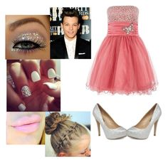 """""""Prom with Louis"""" by i-love-niall-horan-4457 ❤ liked on Polyvore featuring Quiz, Cotton Candy and Dorothy Perkins"""