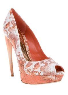 Alexander McQueen peep-toe heels, Was £1011, Now £505