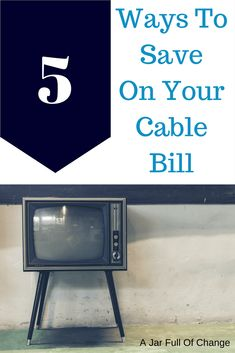 Cable used to be one of my biggest expenses until I made a few of these changes. If you're looking to save on your cable bill, save this for later! via @jarfullofchange