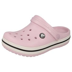 CHILDRENS CROCS CLOGS MULES/SANDALS IN BUBBLEGUM/OYSTER - STYLE - CROCBAND KIDS