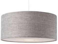 BNWT Modern Grey Textured LARGE Drum Diffuser Ceiling Light Shade Pendant NEW