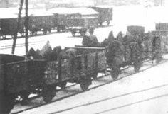 This is a picture of the train cars that carried Jews in through the snow to Gleiwitz from the Buna/Monowitz concentration camp. The Jews were exposed to the elements as they were transported in these open cattle cars. Elie Wiesel tells us about this event in his book.              http://www.wollheim-memorial.de/en/evakuierung_todesmarsch_en