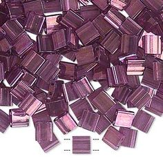 Miyuki TILA™ Double-Drilled Tile Seed Beads - Luster Finish - Fire Mountain Gems and Beads