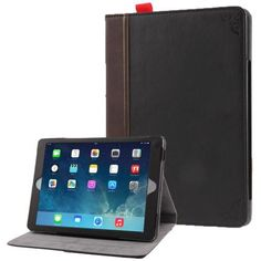 For+iPad+Air+Retro+Bookbook+Style+Flip+Leather+Case+with+Holder