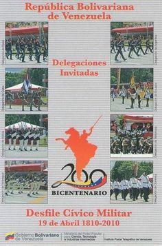 Postal: Delegaciones Invitadas 2/6 (Venezuela) (Ipostel - Military Civic Parade April 19, 1810 - 2010) Col:ve_ipostel_DCM_02