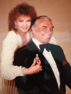 Ernest Borgnine & wife Tova Borgnine Ernie always supported his wife's passion to be a successful businesswoman in the beauty industry. This is one of the original ads for her company , TOVA Beverly Hills, first Fragrance ads for TOVA Signature Perfume.